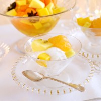 Fruit Salad with Coconut Sorbet