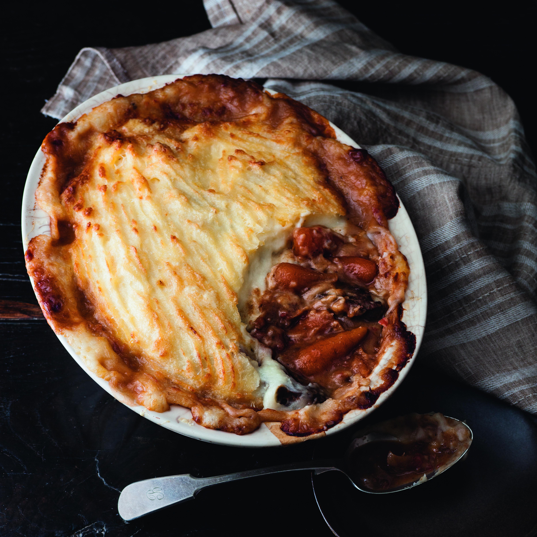 Creamy pork and cider casserole recipe