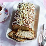 White Chocolate and Hazelnut Loaf Cake