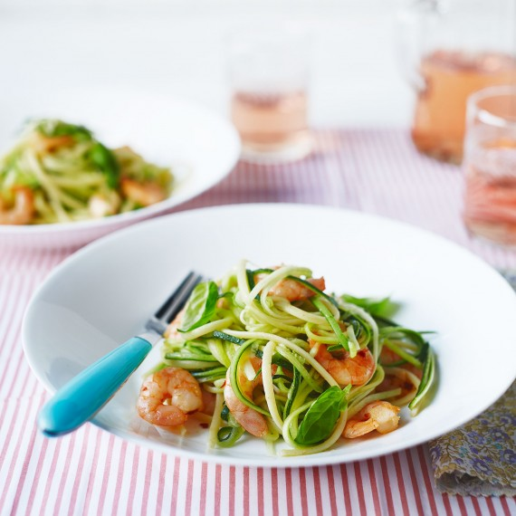 Prawn and Courgetti Linguine