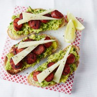 Avocado and Chorizo Bruschetta