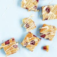 Gluten Free White Chocolate and Raspberry Blondies