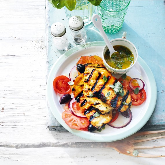 Chargrilled Halloumi with Honey