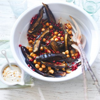 Chickpea and Aubergine Salad