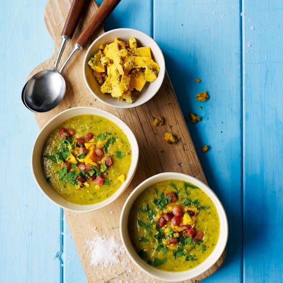 Courgette and Blacksticks Blue Soup