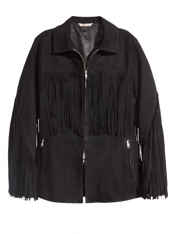 h and m fringed jacket