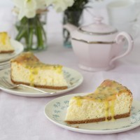 Mary Berry's Passion Fruit and Lemon Baked Cheesecake