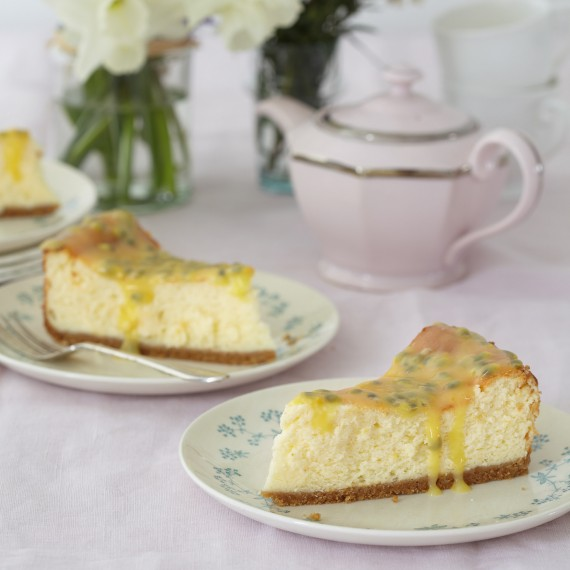 Mary Berry's Passion Fruit and Lemon Baked Cheesecake - Woman And Home