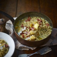 Smoked Haddock And Bacon Risotto