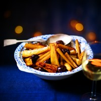 Braised Parsnips With White Wine and Chestnuts