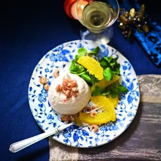 Prawn Mousse With Orange And Watercress Salad