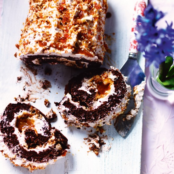Salted Caramel Roulade Recipe