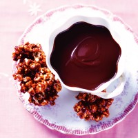 Chocolate Dip With Caramel Popcorn Clusters