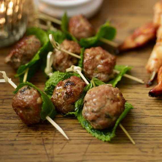 Vietnamese pork balls woman and home for Meatball canape