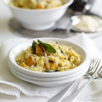 Butternut And Orzo Risotto