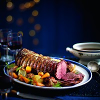 Roast Venison With Cranberry, Sour Cherry and Herb Stuffing