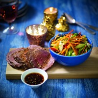 Rare Asian-Style Beef With Chilli Salad