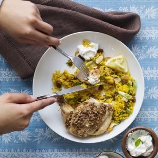 Coriander Chicken With Pilau Rice