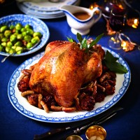 Roast Turkey With Pancetta and Chorizo Stuffing