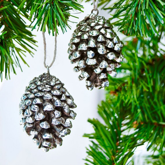 Christmas tree decorations nordic house round pine cone for Pine cone christmas tree ornaments