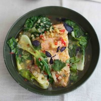 Amelia Freer's Poached Thai Salmon With Pak Choi
