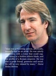 Tributes To Alan Rickman