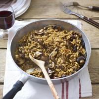 Pearl Barley And Mushroom Risotto