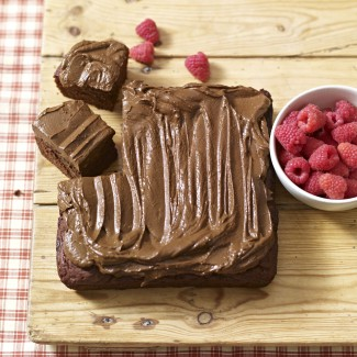 Chocolate Brownie Tray Bake With Avocado Frosting