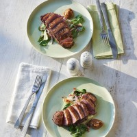 James Martin's Spiced Duck Breast With Umeboshi Sauce and Steamed Bok Choi