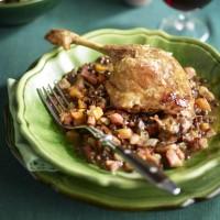 Duck Confit With Pancetta Lentils