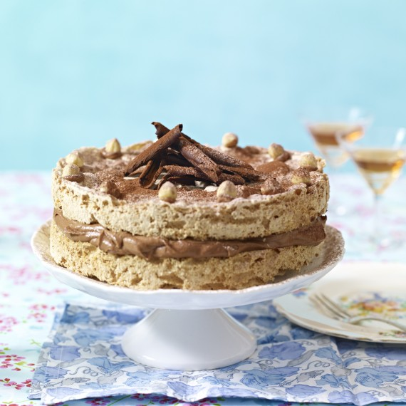 Hazelnut And Nutella Meringue Cake Woman And Home