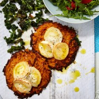 Sweet Potato R�sti With Goats' Cheese
