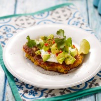 Sweetcorn Fritters With Yogurt, Avocado And Chilli