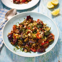 Freekeh With Harissa-Roasted Vegetables
