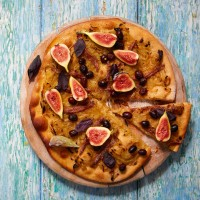 Spelt Pizza With Figs, Olives And Anchovies