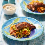 Jerk Salmon With Mango Yogurt