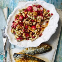 White Bean, Radish And Pomegranate Salad