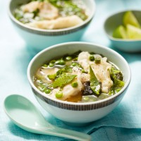 Miso Soup With Prawn Dumplings