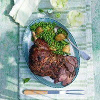 Roast Carvery Leg of Lamb with Miso and Ginger