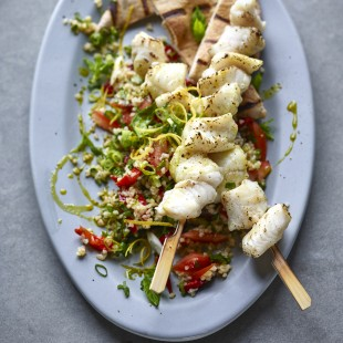 Joe Wicks' Monkfish Kebabs With Tabbouleh