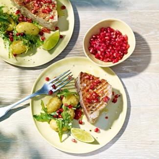 Spiced Tuna Steak With Wasabi Potato Salad