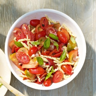 Trofie Pasta Salad With Tomatoes And Peppers