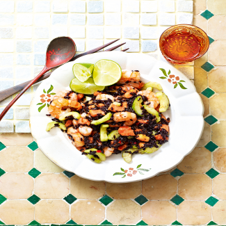 Black Rice and Prawn Salad