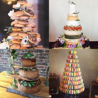 9 unique wedding cakes to wow your guests woman and home multiple miniatures wedding cake junglespirit Images