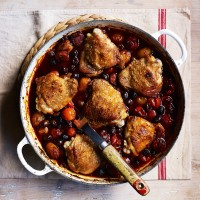 Chicken, Chorizo and Olive Bake