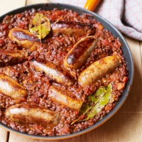 Toulouse Sausages with Lentils
