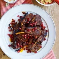 Lamb Cutlets with Harissa and Pomegranate Molasses