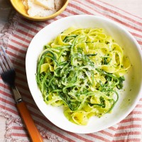 Tagliatelle with Pesto and Courgettes