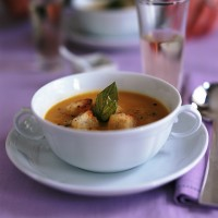 Butternut Squash Soup with Herb Croutons