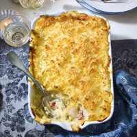 Smoked Haddock and Bacon Pie